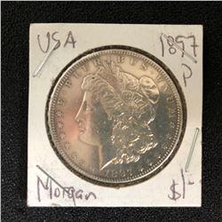1897 USA MORGAN SILVER DOLLAR (PHILADELPHIA MINTED)