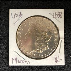 1888 USA MORGAN SILVER DOLLAR
