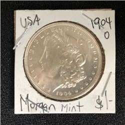 1904 USA MORGAN SILVER DOLLAR (NEW ORLEANS MINTED)