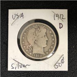 1912 USA SILVER HALF DOLLAR (DENVER MINTED)