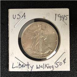 1945 USA WALKING LIBERTY HALF DOLLAR
