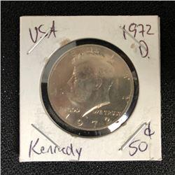 1972 USA KENNEDY HALF DOLLAR (DENVER MINTED)