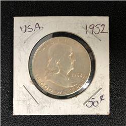 1952 USA SILVER HALF DOLLAR