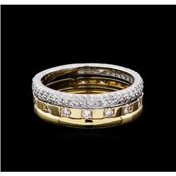 0.85 ctw Diamond Ring - 14KT Two-Tone Gold