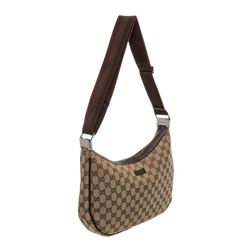 Gucci Brown GG Canvas Leather Messenger Bag