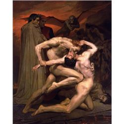 William Bouguereau - Dante and Virgil in Hell