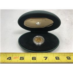 1999 - 24 Karat Gold-Plated Inner Core Proof Toonie