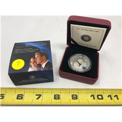 2011 HRM Prince of Wales/Catherine Middleton $20.00 Fine Silver Coin