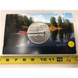 2011 Twenty for Twenty Encapsulated Coin - Canoe 1/4oz Silver