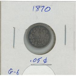 1870 Canada Five Cent Coin