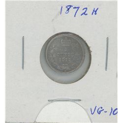 1872H Canada Five Cent Coin