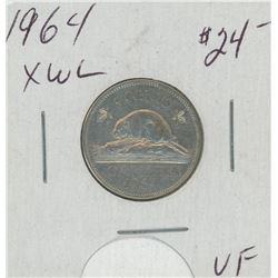 1964 XWL Canada Five Cent Coin