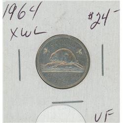 1964 XWL Canada Five Cent Coin