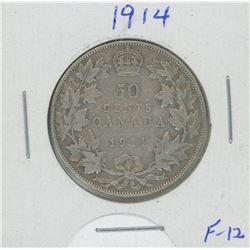 1914 Canada Silver Fifty Cent Coin