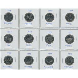 1999 Twenty-Five Cent Millennium Commemorative Set