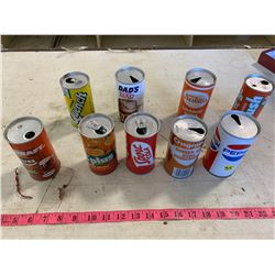 9- Assorted Vintage Soda Cans
