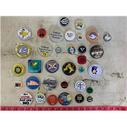 Lot of Assorted Button Pins