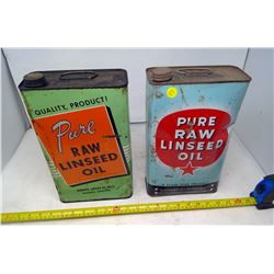 2 Raw Linseed Oil Cans