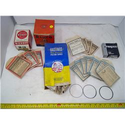 Lot of Stationary Engine Rings Assorted Shapes and Sizes