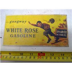White Rose Gasoline Gangway Football Card