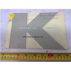 Kohler Company Owner's Manual