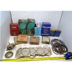 New-Old Stock Miniapolis Moline, Piston Rings, Pioneer Motor Bearings, Federal Mogal, Perfect Circle