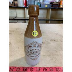 Vintage John Milne Ginger Beer Bottle