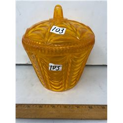 1955 vintage Lidded Candy Container - Height 8""