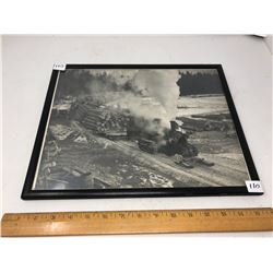 William James Vintage Photo Early PA Logging Locomotive Tractor