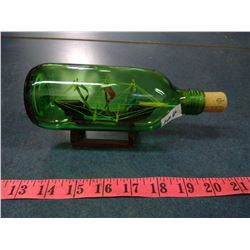 1984 Ship in a Bottle Isle Mujeres, Mexico- Length 8""
