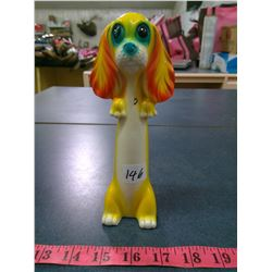 1972 Hippy Neon Japan Porcelain butterfly Dog Figure - Height 8""