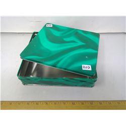 """Malachite Green Collector Tin - """"Delacre"""" - Width 9"""""""