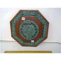 "Powered Jade Stone Epoxy Mayan Calendar - Width 13"""