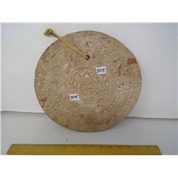 "Museum Copy Mayan Calendar - 11"" Diameter - 1"" Thick"