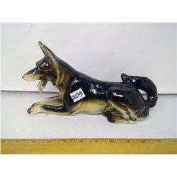 "1963 Japan Porcelain German Shepherd - Length 11"""