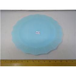 "1963 Pyrex Turquoise Platter - Diameter 12"""