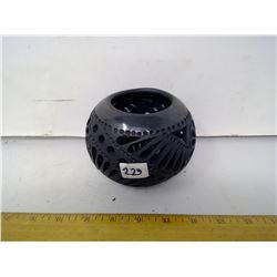 "Daxaca Black ""Widowed"" Vase - Mexico - Diameter 5"""