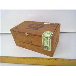 "1/4"" Mahogany Slab Honduras Excalibur Cigar Box - Length 8"""