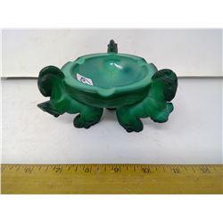 """Czech Malachite Green Glass Bowl - 1932 - Height 3"""""""
