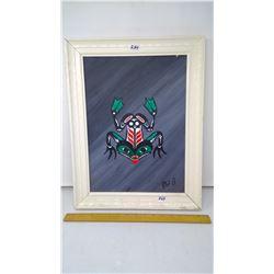 "Acrylic on Panel 12"" x 16"" 1997 'Salish Frog' original, Vancouver Island, B.C."