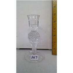 """Bohemia Lead Crystal Candlestick Holder - Height: 6"""""""