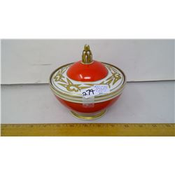 """1922 Austria VF Porcelain Lidded Container - Height 6"""""""