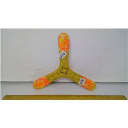 """""""Minitripale"""" French Right-Handed Tri-Bladed Boomerang - 20 meter range, 9 1/2"""" Span"""