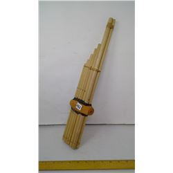 """2012 Thailand Jungle Tribes 12 Tube Bamboo Flute - 18"""" Length"""