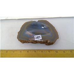"""Rocksaw Slab Polished Gemmy Agate Dish - 1"""" Thick - 6"""" Length"""