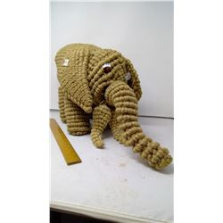 """Jute Cord Elephant - 22"""" Length - Local Craftswoman Dares to Make of Solid Jute"""