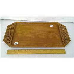 "1960 Danish Plank Teakwood 20""x10""x 1/2"" Thick Tray"