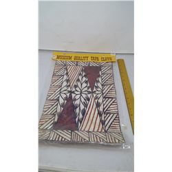 "Museum Quality Tapa Cloth Pounded Tree Bark - Tonya Islands - 18""x11'"""