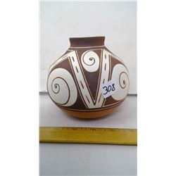 "Zuni Museum Reproduced Thin Walled Pottery - Height: 5 1/2"" - Provenance Underneath"