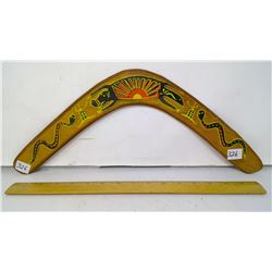 "1980 - 18 meter range - Right-handed Decorated Boomerang - 18"" Span"